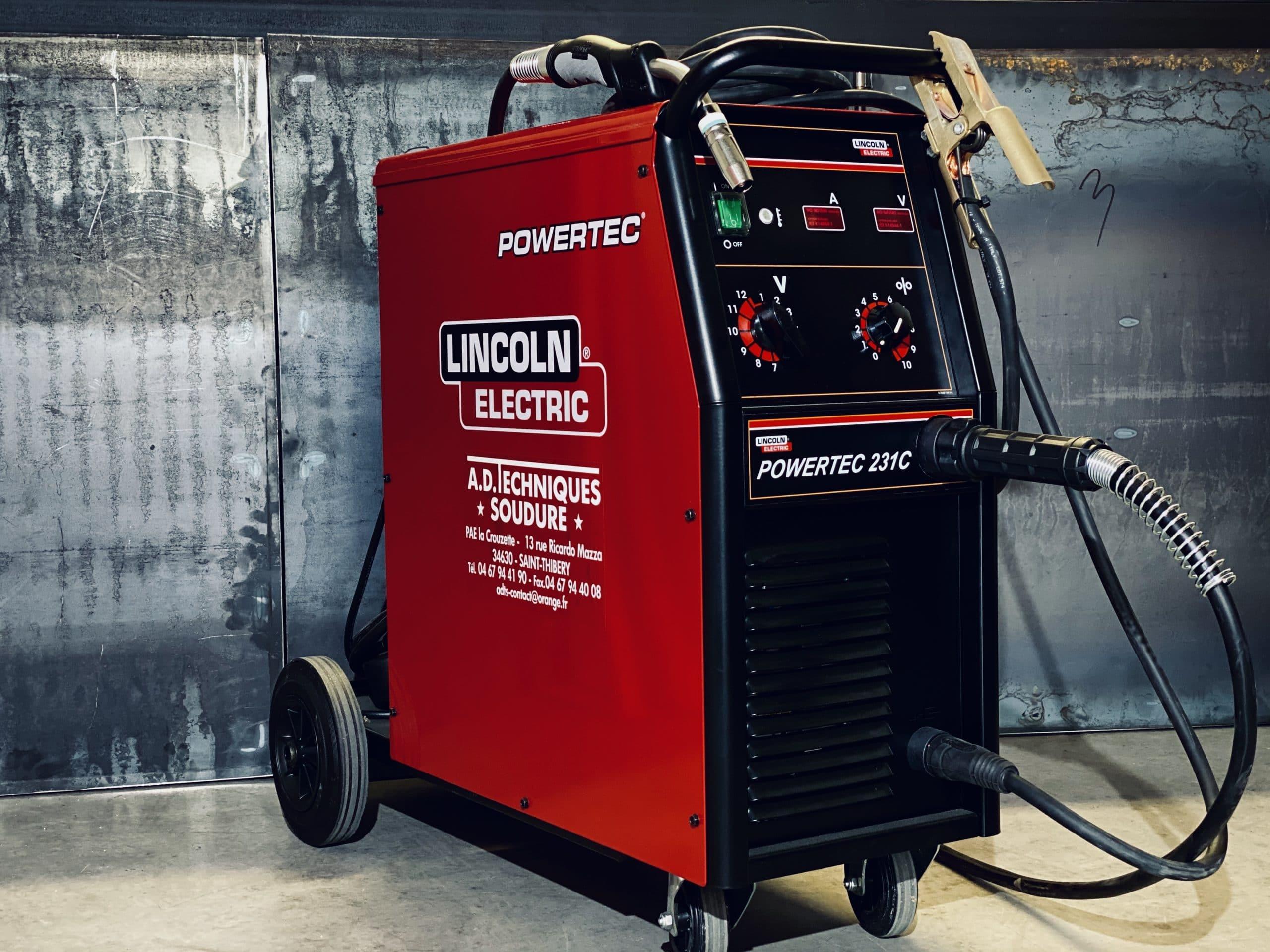 Location poste à souder Lincoln Electric powered 231C pour soudure MIG-MAG