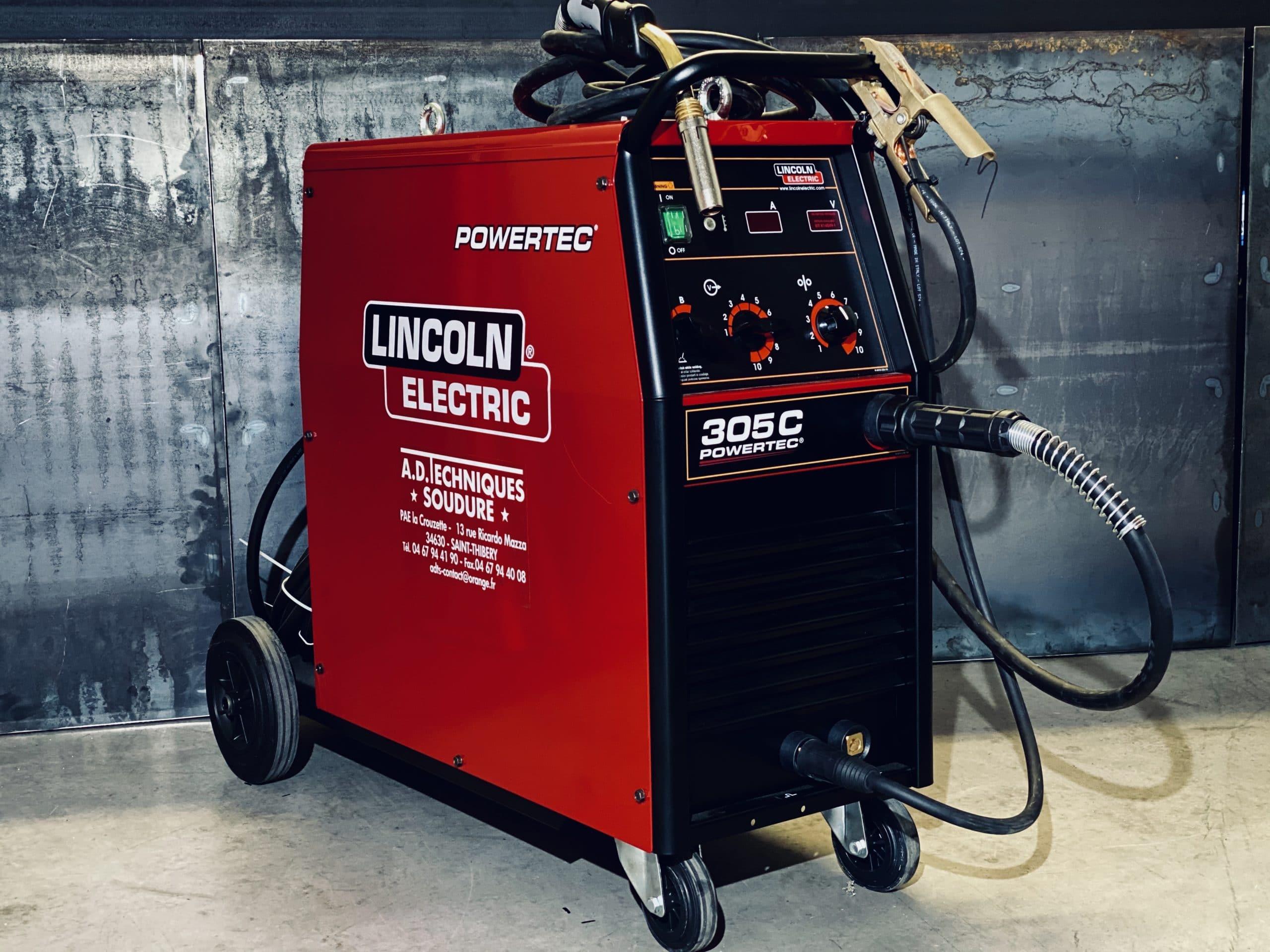 Poste à souder Powertec 305C pour soudure MIG Lincoln Electric Triphasé