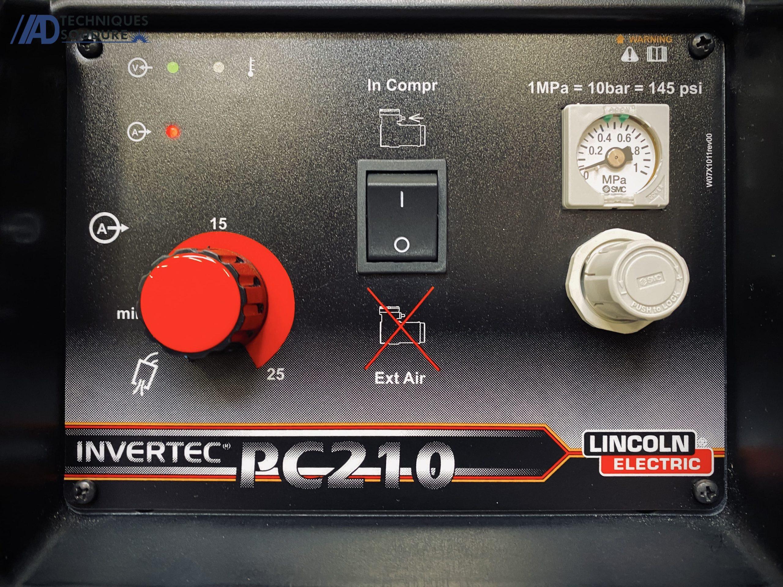 Poste à découper plasma monophasé INVERTEC PC210 Lincoln Electric
