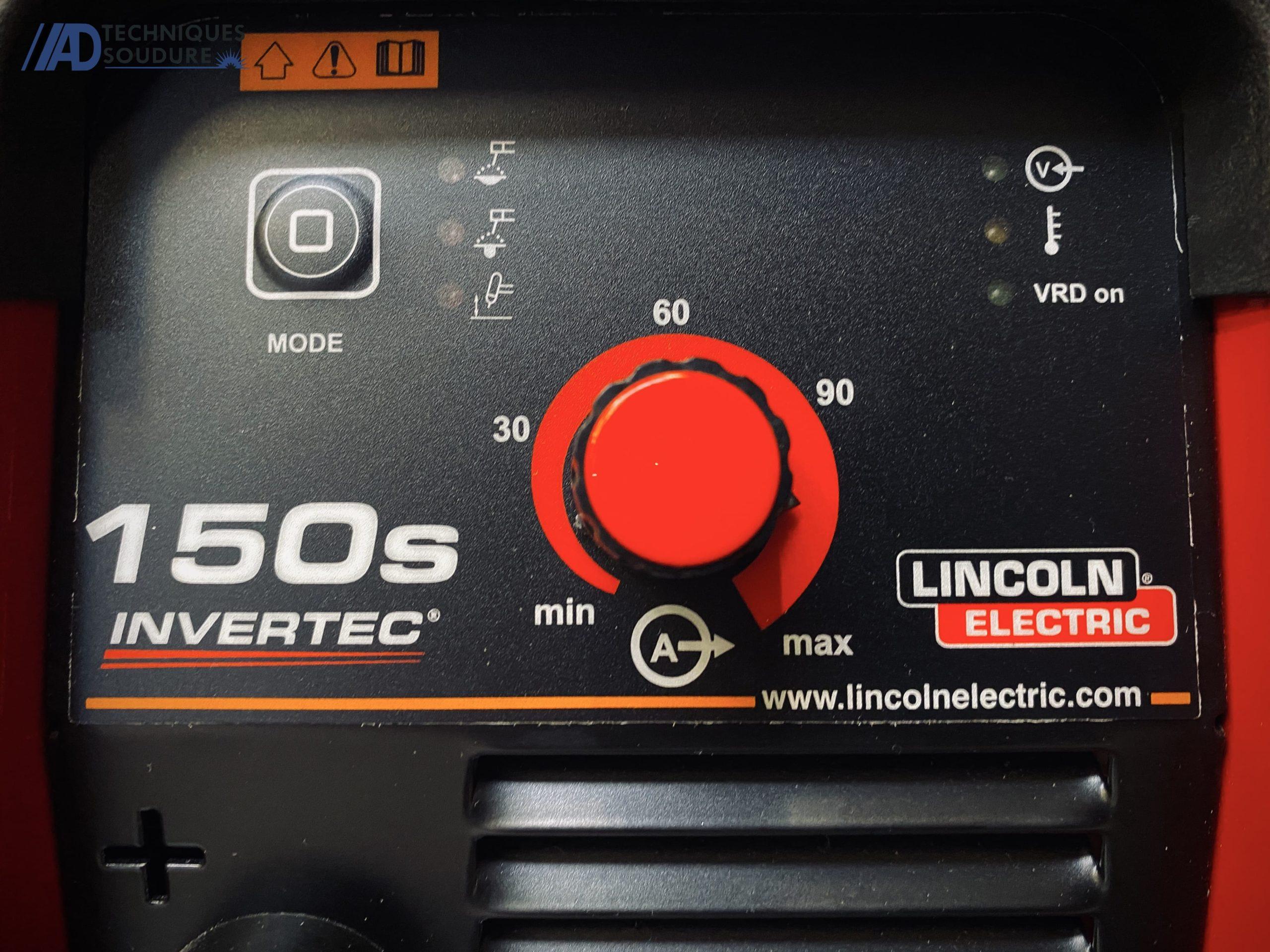 Poste à souder MMA INVERTEC 150S Lincoln Electric