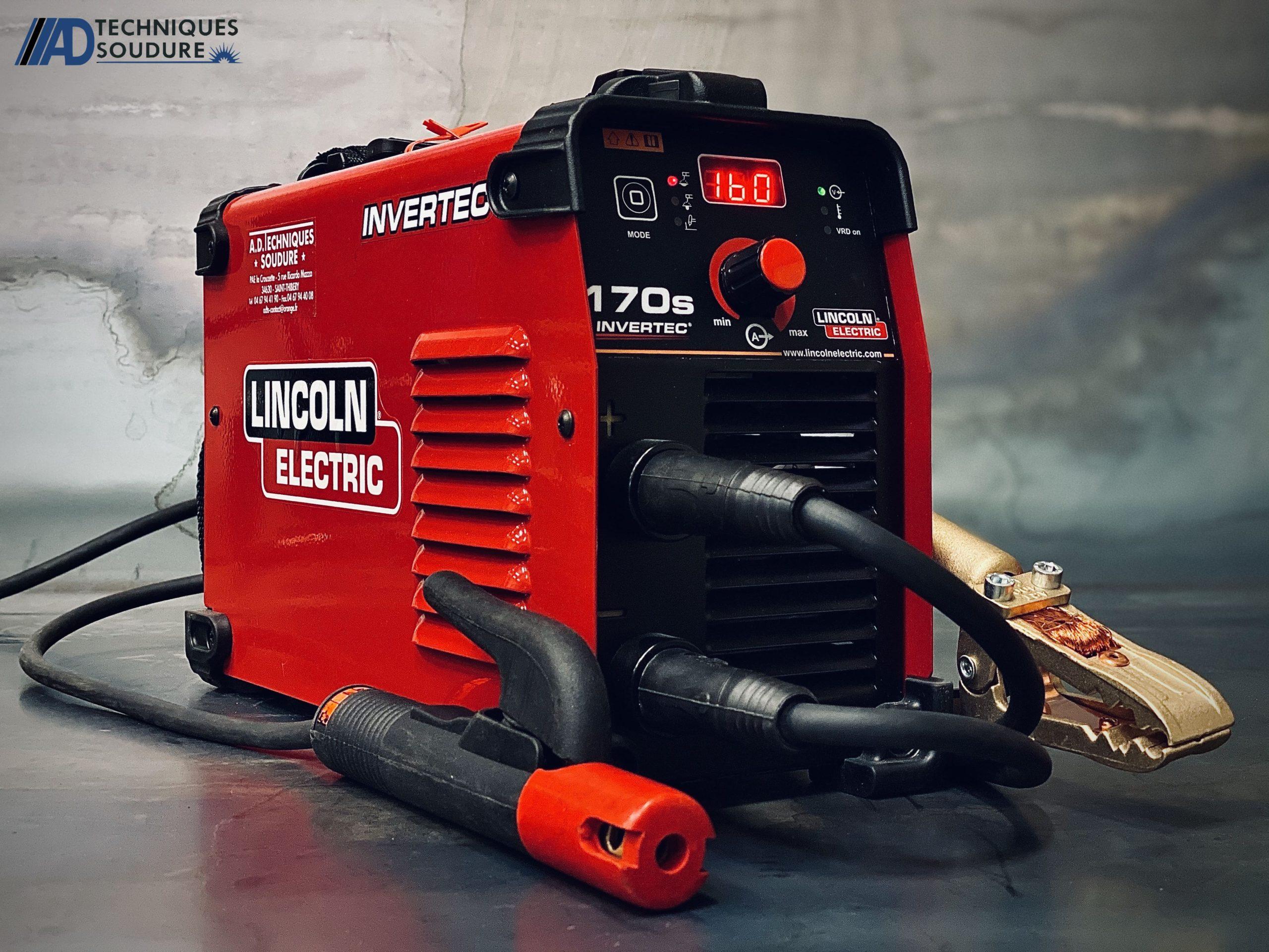 Poste à souder MMA INVERTEC 170S Lincoln Electric monophasé