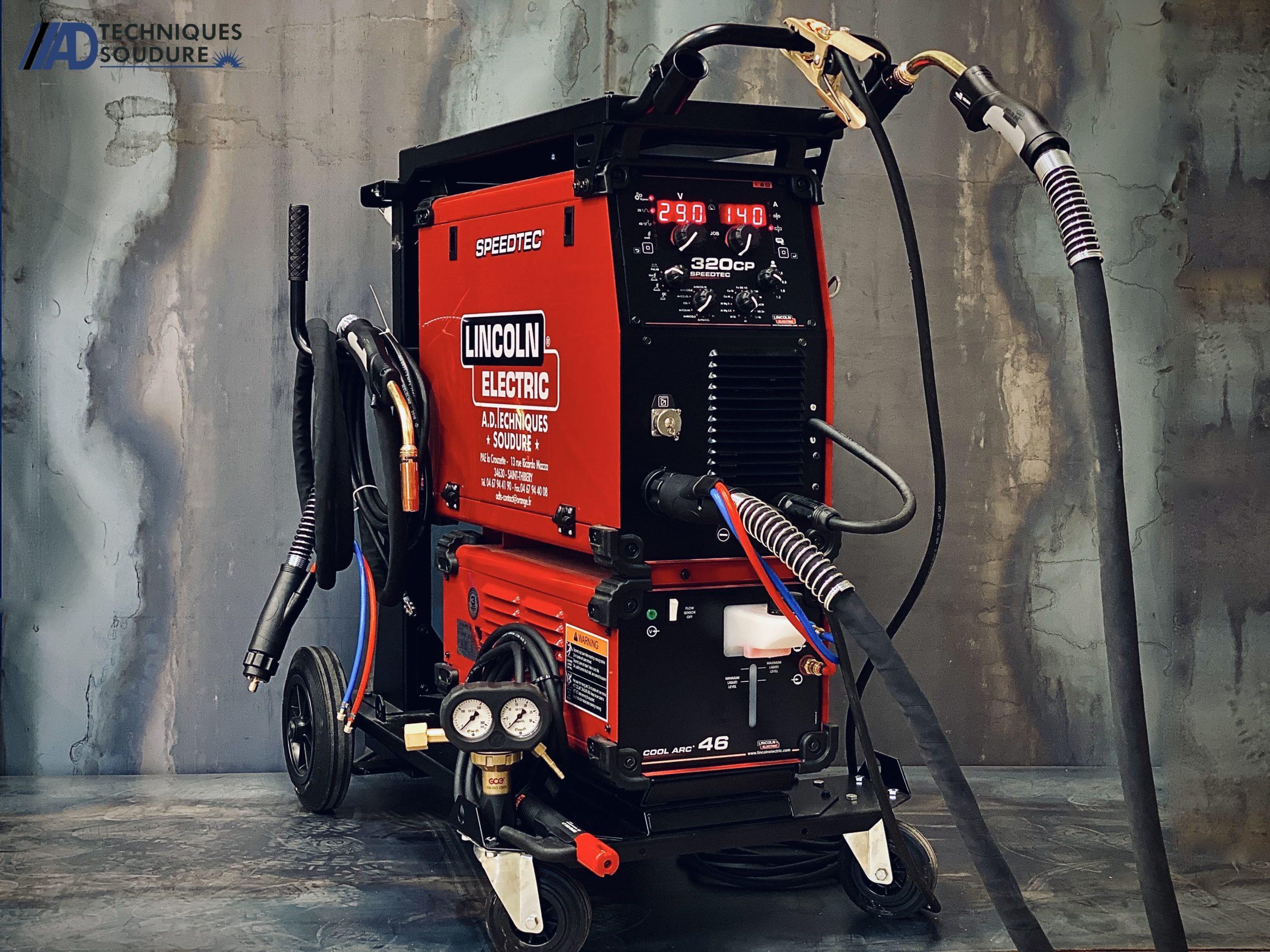 Poste à souder multi procédé, séquenceur, double pulsage SPEEDTEC 320CP Lincoln Electric triphasé