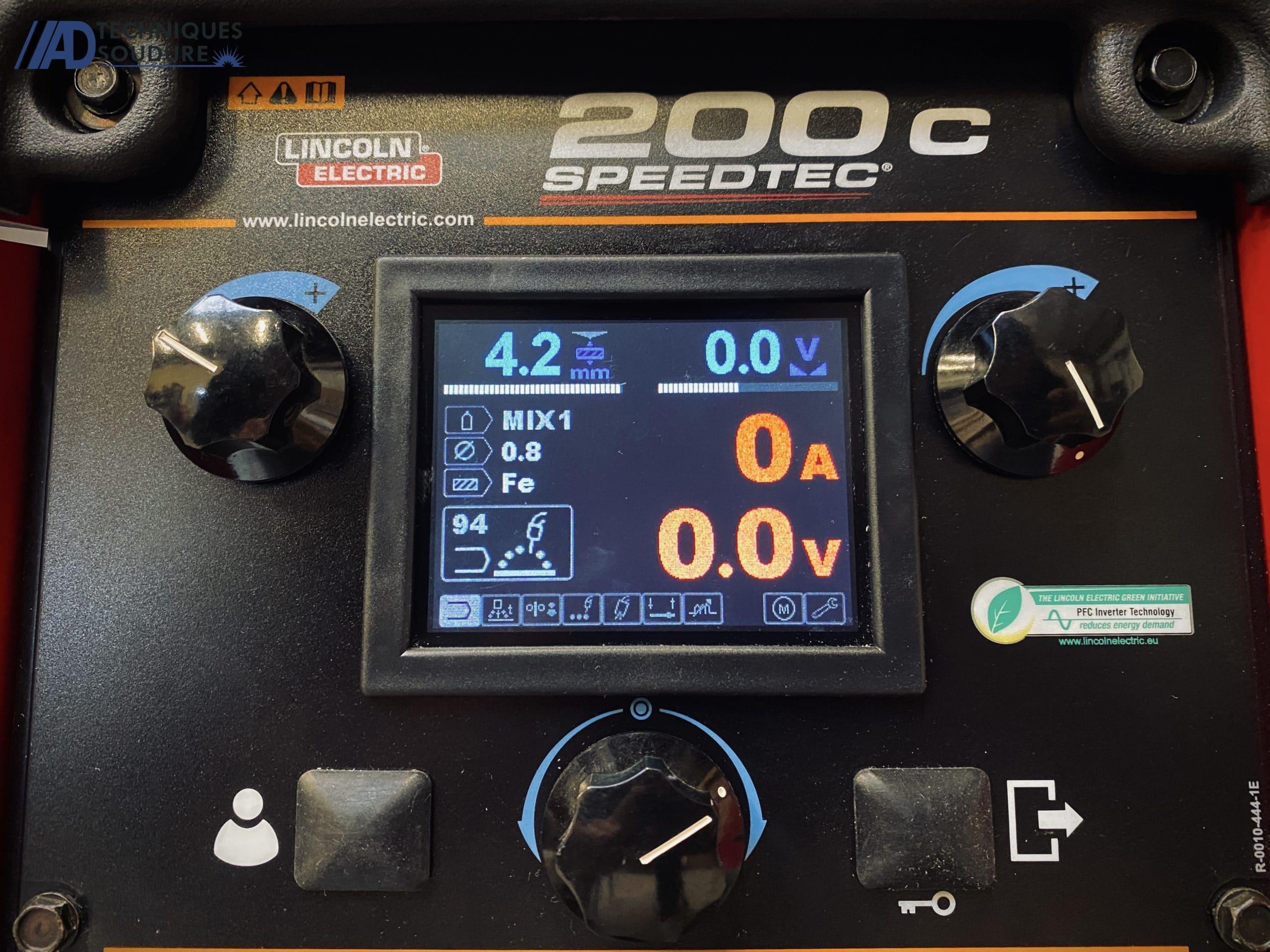 Poste à souder MIG/MAG Speedtec 200C Lincoln Electric monophasé
