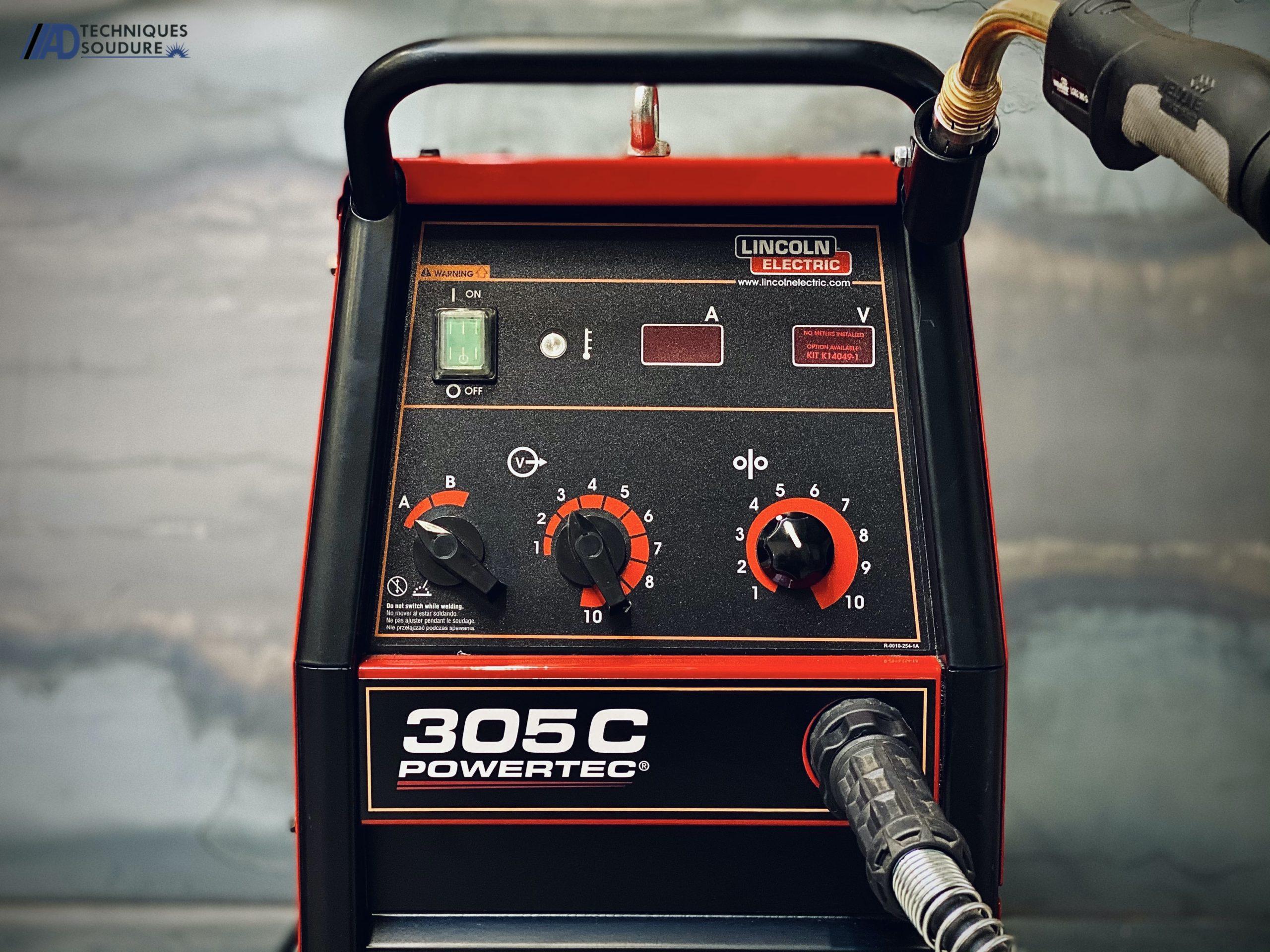 Poste à souder MIG/MAG Powertec 305C Lincoln Electric monophasé