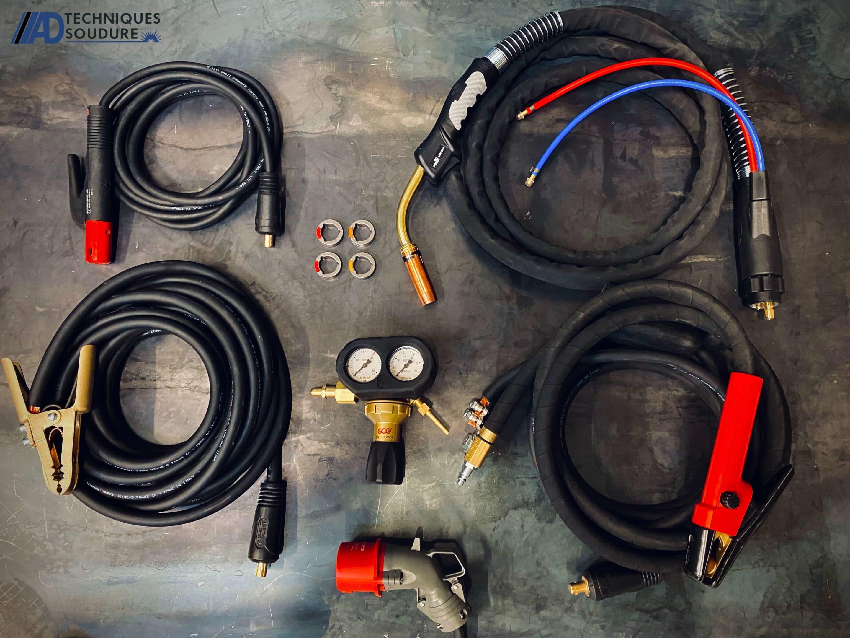 Accessoires poste à souder MIG/MAG synergie Powertec i500s et dévidoir séparé LF52D lincoln Electric triphasé