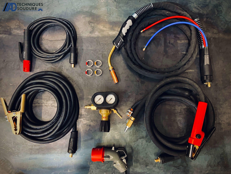 Accessoires poste à souder MIG/MAG synergie Powertec i500s et dévidoir séparé LF56D lincoln Electric triphasé