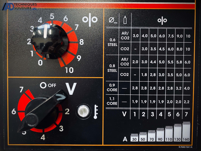 Panneau de commande powertec 161C Lincoln Electric