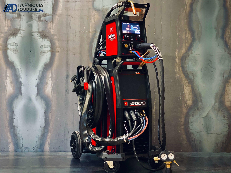Poste à souder MIG/MAG synergie Powertec i500s et dévidoir séparé LF56D lincoln Electric triphasé