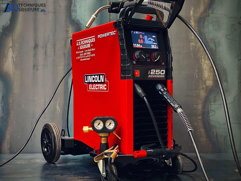 Poste à souder MIG/MAG powertec i250c advanced lincoln electric triphasé