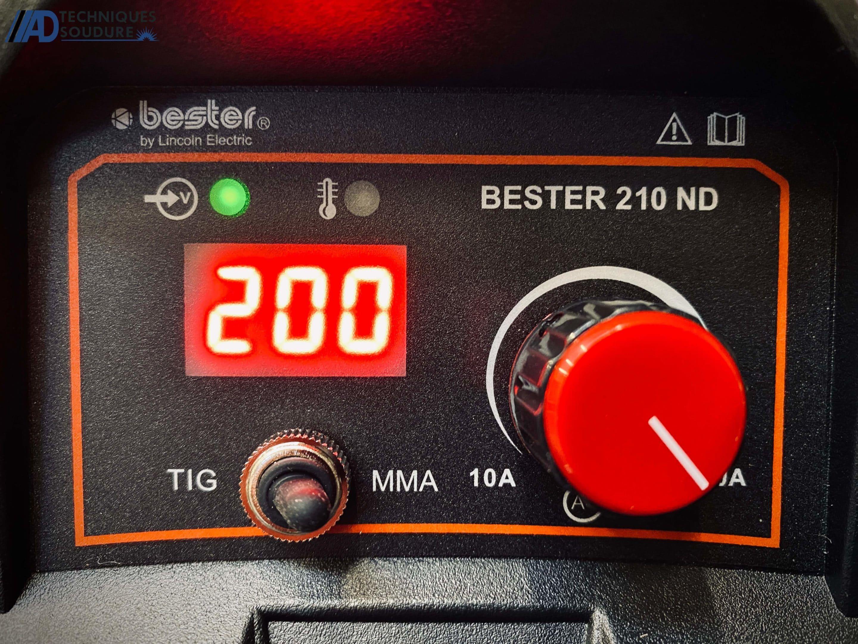 Poste a souder électrode enrobée Lincoln Electric BESTER 210-ND monophasé