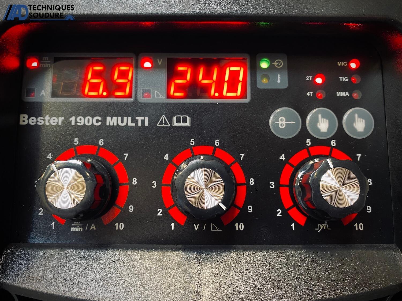 Panneau de commande poste à souder MIG/MAG multi procédés BESTER 190C Lincoln Electric monophasé