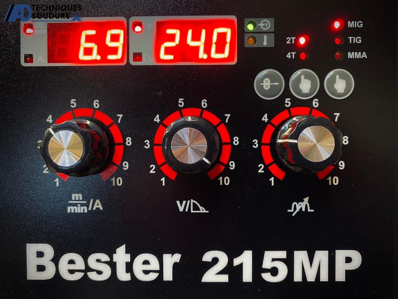 Panneau de commande poste à souder MIG/MAG multi procédés BESTER 215MP Lincoln Electric monophasé