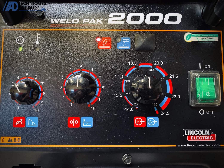 Panneau de commande poste à souder MIG-MAG WELDPAK 2000 Lincoln Electric monophasé