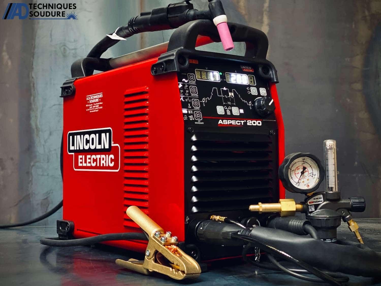 Poste à souder TIG ASPECT 200 AC-DC Pulsé Lincoln Electric monophasé
