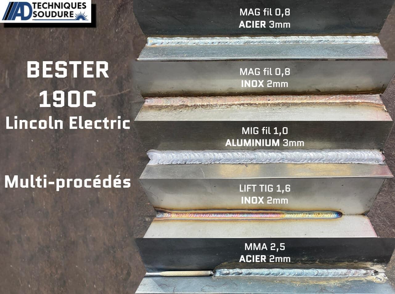 Soudure poste à souder multi procédés BESTER 190C MULTI Lincoln Electric